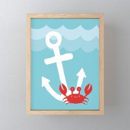 Anchor's Away Crab Framed Mini Art Print