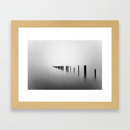Sea Pillars I Framed Art Print