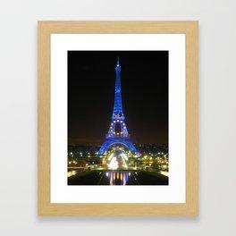 Scenic Eiffel Tower at Night Framed Art Print