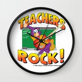 Teachers Rock Merchandise Wall Clock