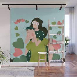 14 February - Couple in Love Wall Mural
