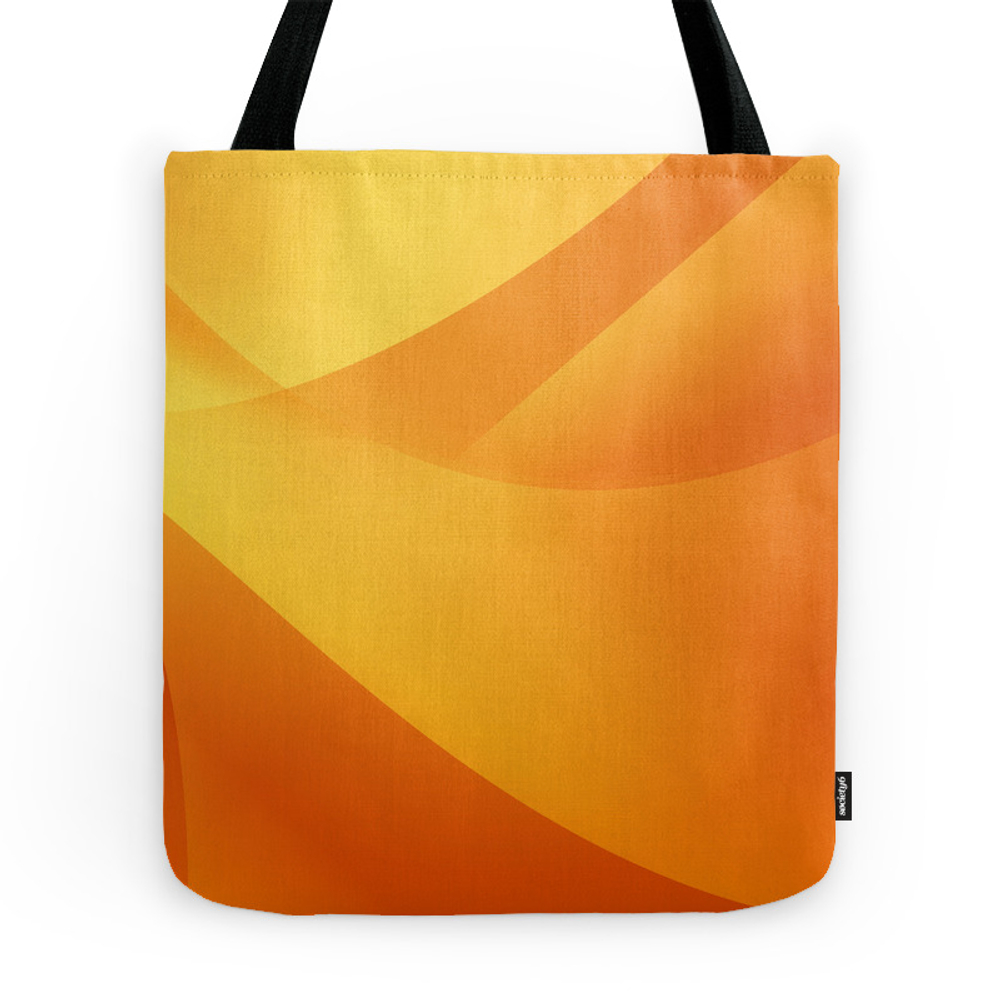 Orange Wallpaper Tote Purse by hlehnerer (TBG7737210) photo