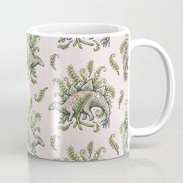 Stegosaurus & Ferns   Dinosaur Botanical Art Coffee Mug