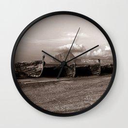 "Old Abandoned Port - Trapani - Sicily - ""Vacancy"" zine Wall Clock"