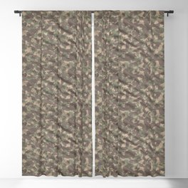 Weathered Green Army Camouflage Blackout Curtain
