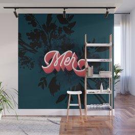 Meh floral artwork Wall Mural