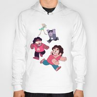 steven universe Hoodies featuring Steven Universe- Steven Tag by merrigel