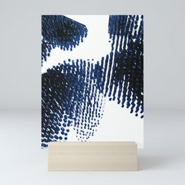 Blue and Black Mini Art Print