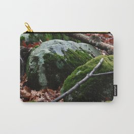Moss Covered Rocks in Fall Forest Carry-All Pouch