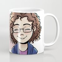 chelsea Mugs featuring Chelsea by Abbi Laura