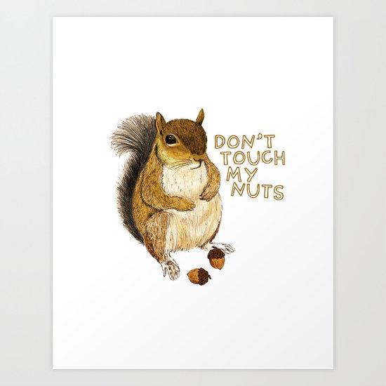 Irreverent Squirrel Art Print