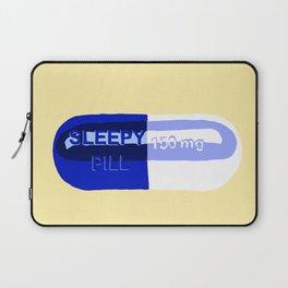Sleepy Pill Yellow Laptop Sleeve