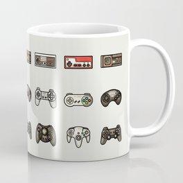 Retro Game Controllers Grey Coffee Mug