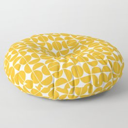 Mid Century Modern Geo 04B Yellow Floor Pillow