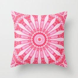 Pink Carpets Mandala Throw Pillow