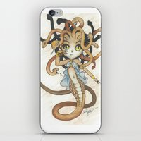 magic the gathering iPhone & iPod Skins featuring Snake Token - Magic the Gathering - Pharika by Deadlance