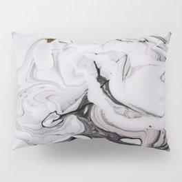 Elegant dark swirls of marble Pillow Sham