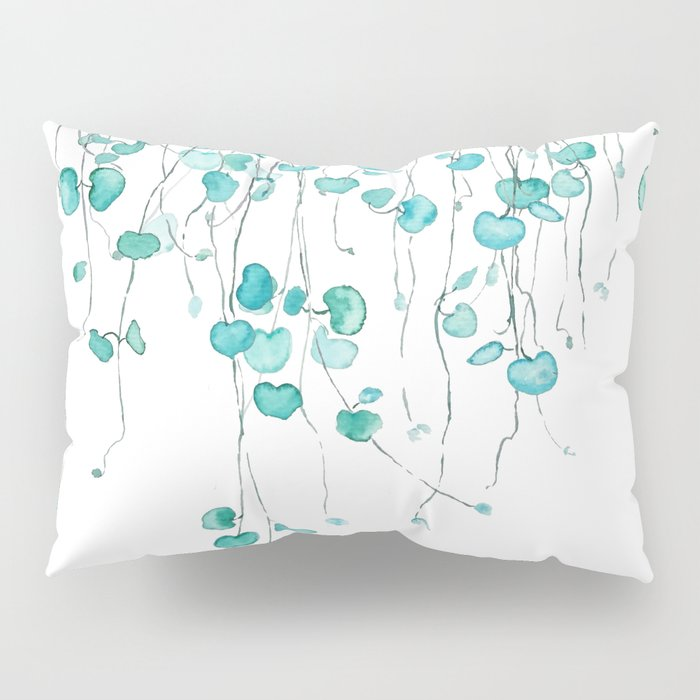 string of hearts watercolor Pillow Sham