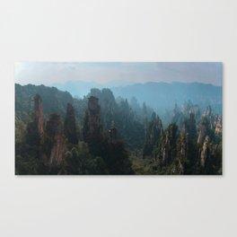 Autumn colors in Zhangjiajie Mountains, China Canvas Print