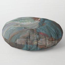 John William Waterhouse - Miranda Floor Pillow