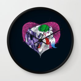 Suicide Kiss Wall Clock