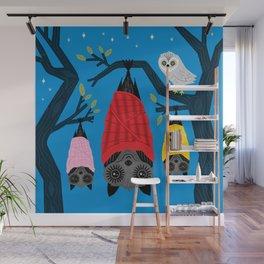 Bats in Blankets Wall Mural