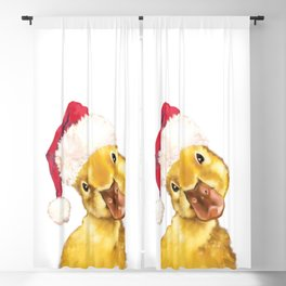 Christmas yellow duckling Blackout Curtain