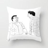 seinfeld Throw Pillows featuring Seinfeld by visualinterpreter