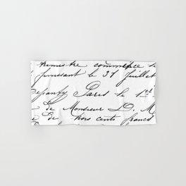 Antique French Script Hand & Bath Towel