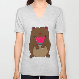 Bear bear Unisex V-Neck