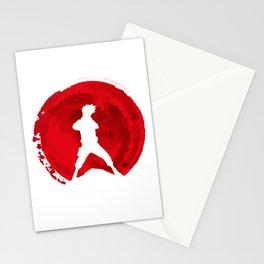 Red kakashi sensei Stationery Cards
