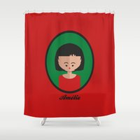 amelie Shower Curtains featuring Amelie by Juliana Motzko
