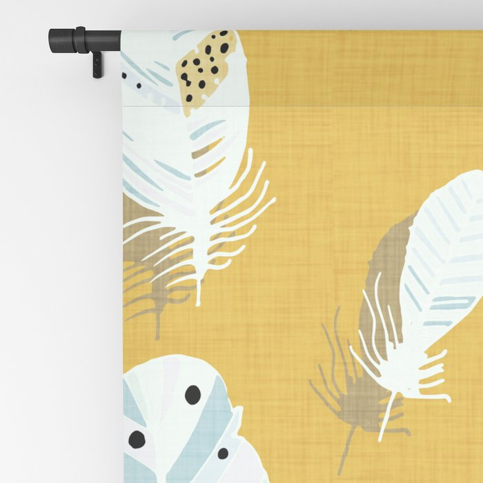 Feathers Mustard #homedecor Blackout Curtain