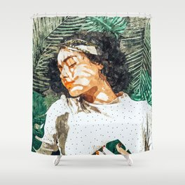 Rest #painting #tropical Shower Curtain