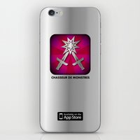 logo iPhone & iPod Skins featuring Logo by chasseurdemonstres