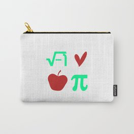 Funny Thanksgiving Math I Love Apple Pi or Pie Day Equation Carry-All Pouch