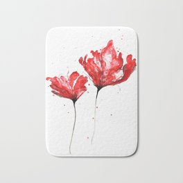 Poppy blooming 3 Bath Mat