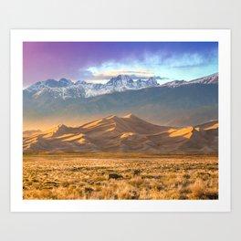 Deer and the Dunes Art Print