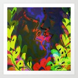 Behind the Leaves / KISS Art Print