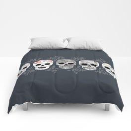 Celebracion de Gris_Calaveras Sugar Skulls line_RobinPickens Comforters