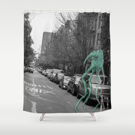 Unseen Monsters of New York - Makah  Shower Curtain