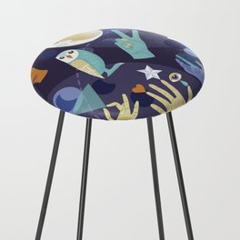 Mystical Tribes Counter Stool