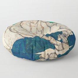 "Egon Schiele ""Crouching Woman with Green Headscarf"" Floor Pillow"