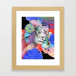 Electric Leopard Framed Art Print