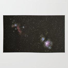 Orion horsehead running man and flame nebula Rug