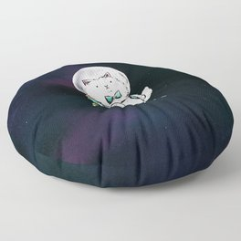 Space Kitty - Wine Time Floor Pillow