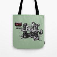 ewok Tote Bags featuring Ewok Village by foreverwars