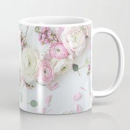 SPRING FLOWERS WHITE & PINK Coffee Mug