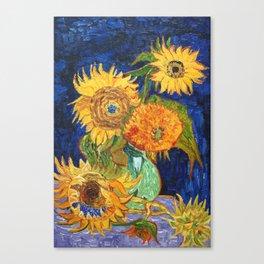 Van Gogh, Five Sunflowers 1888 Artwork Reproduction, Posters, Tshirts, Prints, Bags, Men, Women, Kid Canvas Print