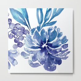 Abstract floral & square #6 Metal Print